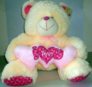 buy I love you you fuzzy bear(cream colour)