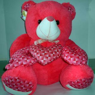 buy I love you you fuzzy bear(Dark Pink)