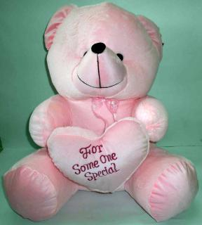 buy for someone special teddy with heart(light pink)