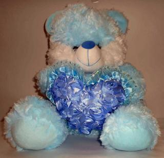 buy jewel bear with heart(blue)