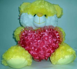 buy jewel bear with heart(yellow)