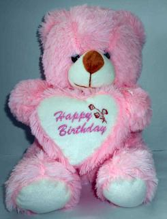 buy happy birthday bear(Light pink)