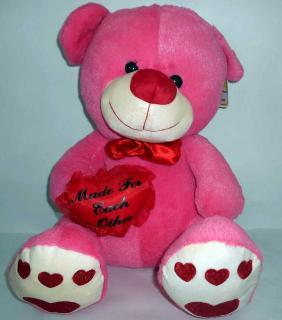 buy Mr.pluffy dark pink teddy