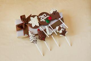 buy Assortment of Christmas Chocolate lollipops
