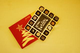 buy Merry Christmas with Belgian  Chocolate Pralines