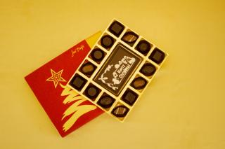 buy Merry  Christmas Chocolate with Classic Truffles