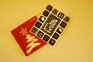 buy Merry Christmas with Luxury Style Chocolate Truffles