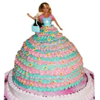buy Barbie Doll Eggless Cake