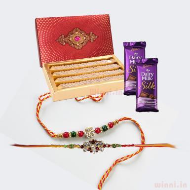 buy Silky Sweet Rakhi Gift