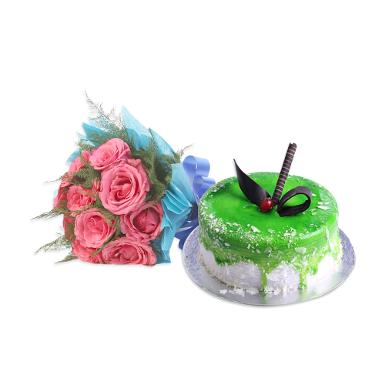 Buy Sweet Treat With Flowers