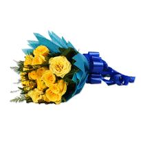 Magic Yellow Roses Bunch