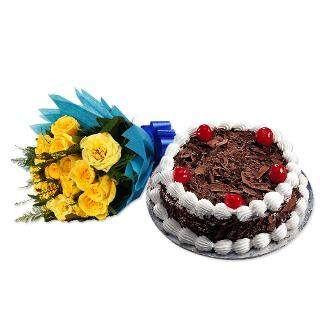 buy Friends Forever Roses And Eggless Cake