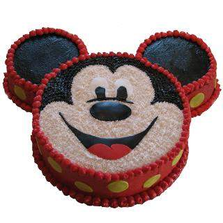 buy Mickey Mouse Shape Eggless Cake