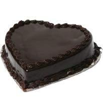 Chocolate Heart Shape Eggless Cake