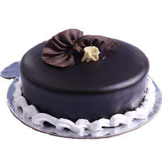 buy Plain Chocolate Eggless Cake