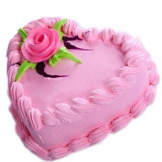 buy Strawberry Heart Shape Cake
