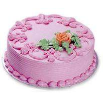 buy Strawberry Fancy Eggless Cake