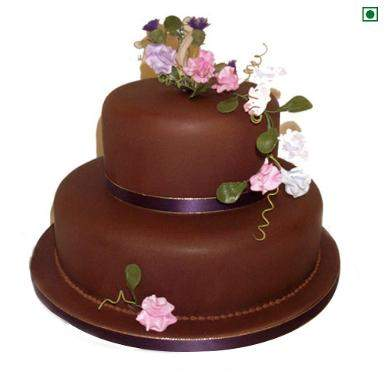 Buy 2 tier Eggless Cake