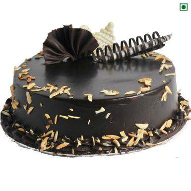 Buy Choco Almond Eggless Cake