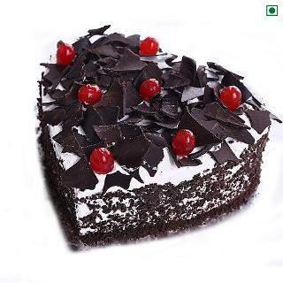 buy Heart Shape Black Forest Eggless Cake