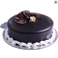 Plain Chocolate Eggless Cake