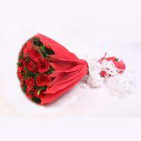 Elegant Love Red Roses in Red Packing