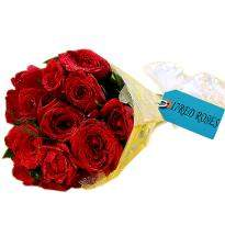 Exotic Red Roses Bunch