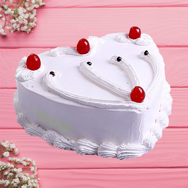 Buy Vanilla Heart Shape Cake