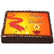 Diwali Crackers Photo Cake