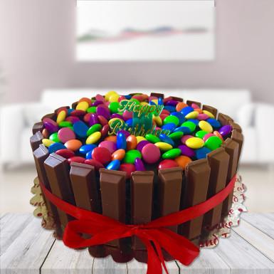 buy Delightful Kitkat Gems Cake