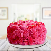 Romantic Pink Blush Strawberry Cake