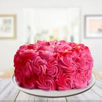 Romantic Pink Blush Strawberry Cake