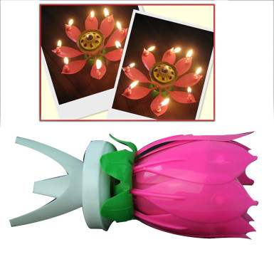 Buy Lotus Musical Candle