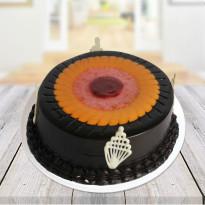 Duet Swirl Chocolate & Fruit Cake