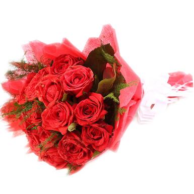buy Elegant Love Red Roses in Red Packing