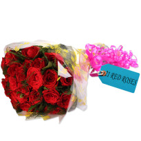 True Love Red Roses Bunch