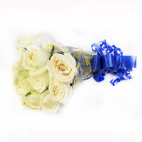 Sweet Memories White Roses Bunch