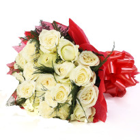 Best Beauty White Roses Bunch