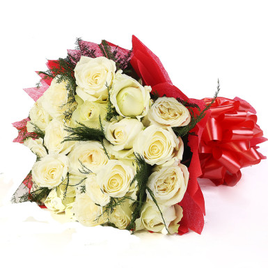 buy Best Beauty White Roses Bunch