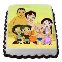 Chota Bheem friends  photo cake