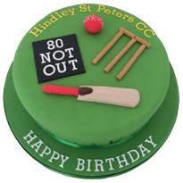 Cricket Fondant Cake