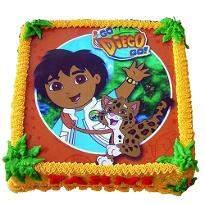 Diego photo cake