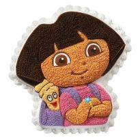 Dora n Map Shape cake