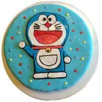 Doraemon fondant cake