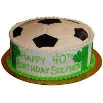 Football fondant cake