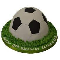 Football shape Fondant cake