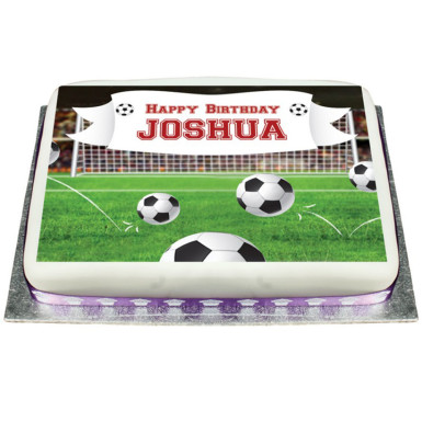 Outstanding Football Photo Cake Winni In Birthday Cards Printable Giouspongecafe Filternl