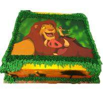 Simba and Friends Photo cake