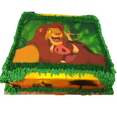 Buy Simba and Friends Photo cake