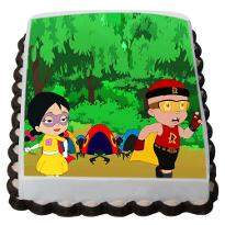 Mighty Raju friends Photo Cake